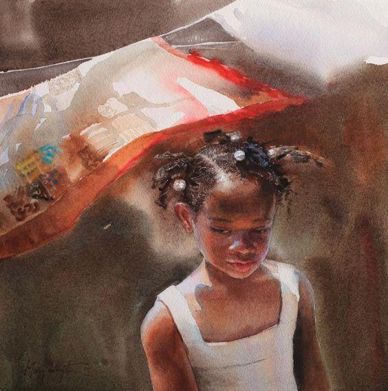 Updraft Por Mary Whyte Acuarela Artista Americano El border=