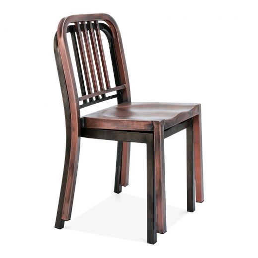 Metal Dining Chair 1006 Brushed Copper