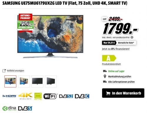 Samsung Mu6179 189 Cm 75 Zoll Fernseher Samsung Hw M450 Zg 2 1 Lautsprechersystem Soundbar Samsung Fernseher Und Zoll