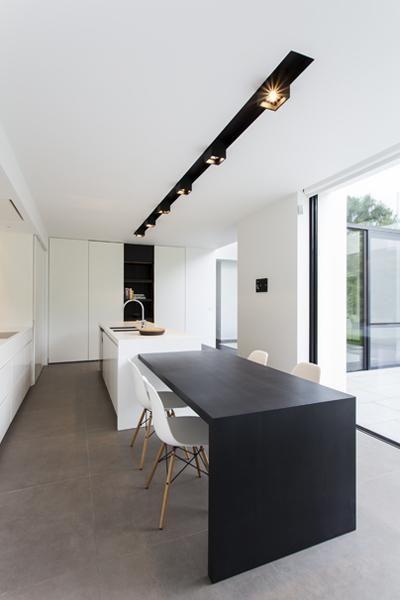 Luxe kookeiland met tafel keuken eiland met tafel pinterest belgi house en met - Keuken witte tafel ...