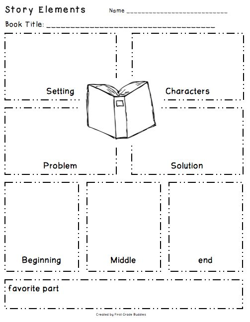 story elements organizer freebie i the layout of this g o