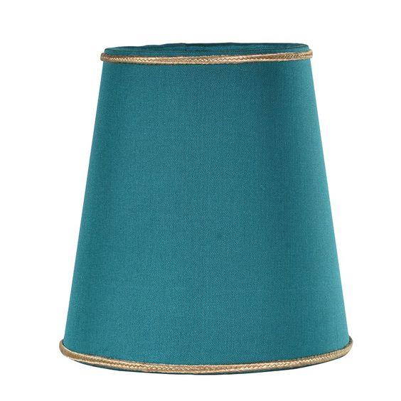 Small teal silk lamp shade