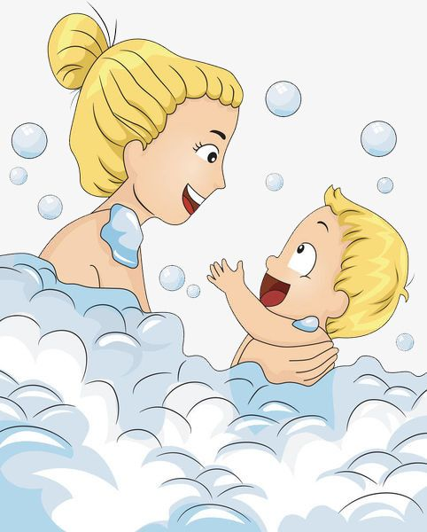 Mother In The Bubble Baby Take A Shower Bath Wash Png Image Bath Time Fun Baby Clip Art Medical Illustration