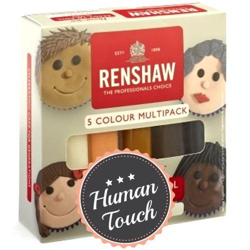 Set aus Fondant von Renshaw in fünf verschiedenen Farben. Ideal zum Modellieren von Gesichtern. #Fondant