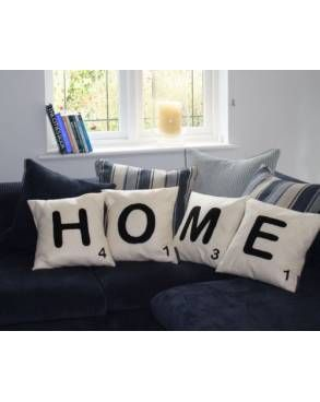 Scrabble letter cushions!! Love: