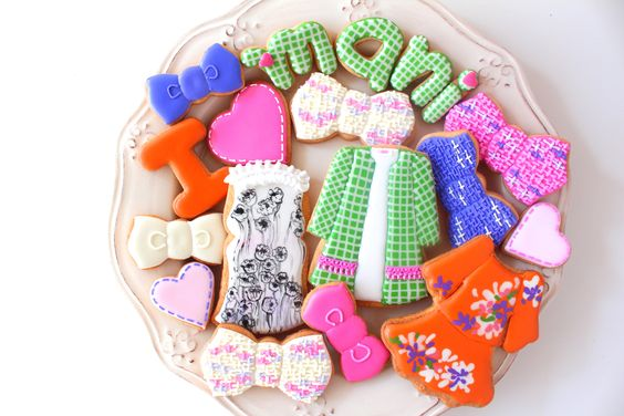 Fashion icing cookies