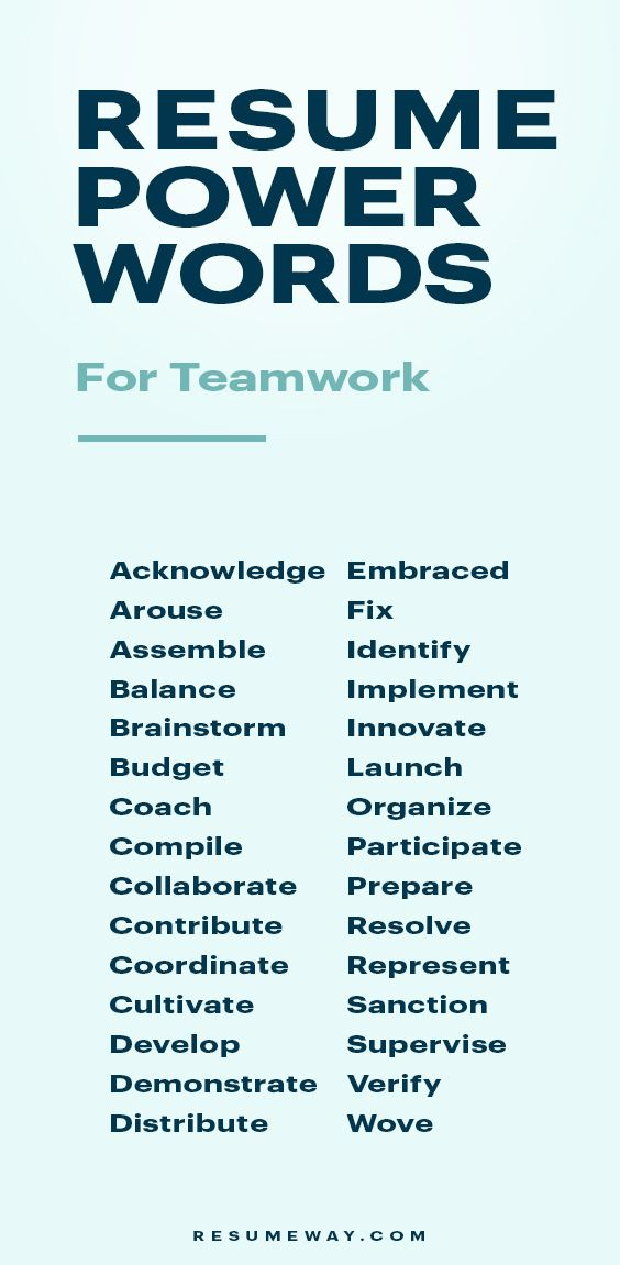 Resume Power Words 120 Words That Will Get You Hired Resumeway Resume Power Words Resume Key Words Resume Advice