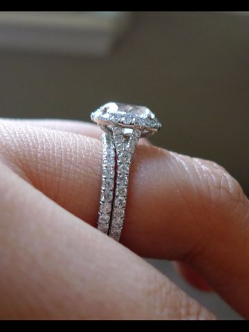 Image result for low stone halo ring