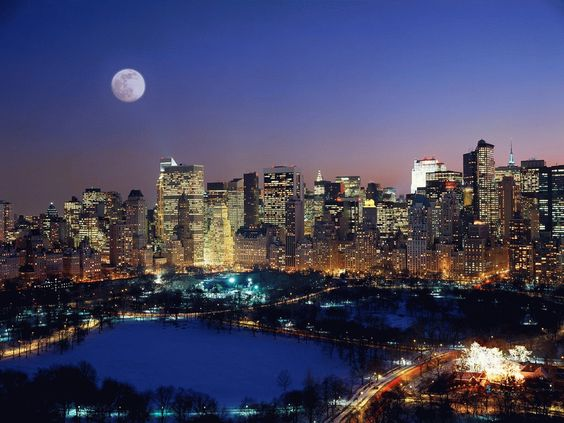 When you get caught between the Moon and New York City . . .