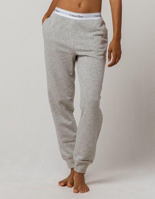 Calvin Klein Modern Cotton Heather Gray Womens Jogger Pants Hegry 338551595 Women Jogger Pants Joggers Womens Calvin Klein Outfits