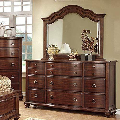 New Benjara Benzara Wooden Dresser Nine Spacious Drawers Brown Online Fortrendytoprated In 2020 Furniture Of America Furniture Wooden Dresser