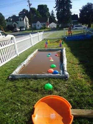 Wipeout Birthday Party --- one of my kids new favorite show.  I love hearing them laugh so hard!