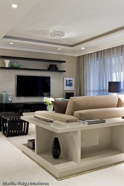 Cuarto de tele muebles de tv pinterest estanter as - Mueble detras sofa ...