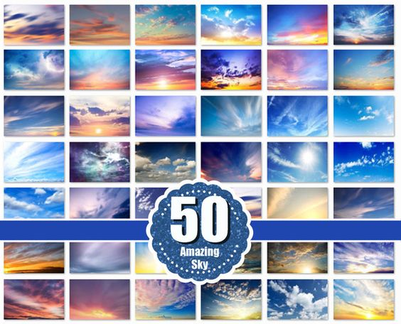 50 amazing colorful real beach skies by MrOverlay on @creativemarket