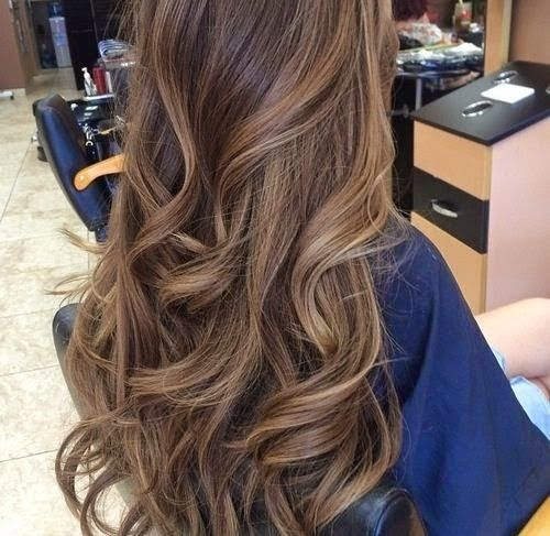Cortes de cabelo longos 2020 Castanho