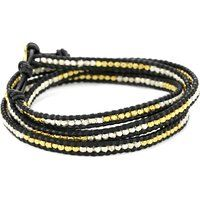Chan Luu 32-inch Silver and Vermeil Bead Black Leather Wrap Bracelet$215More details