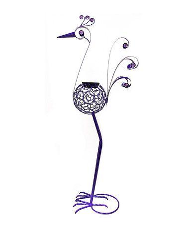 """Loving this 36"""" Purple Solar Filigree Bird Garden Statue on #zulily! #zulilyfinds"""