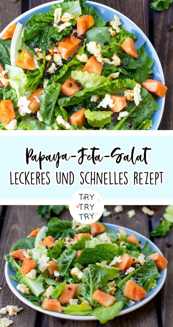 Papaya-Feta-Salat