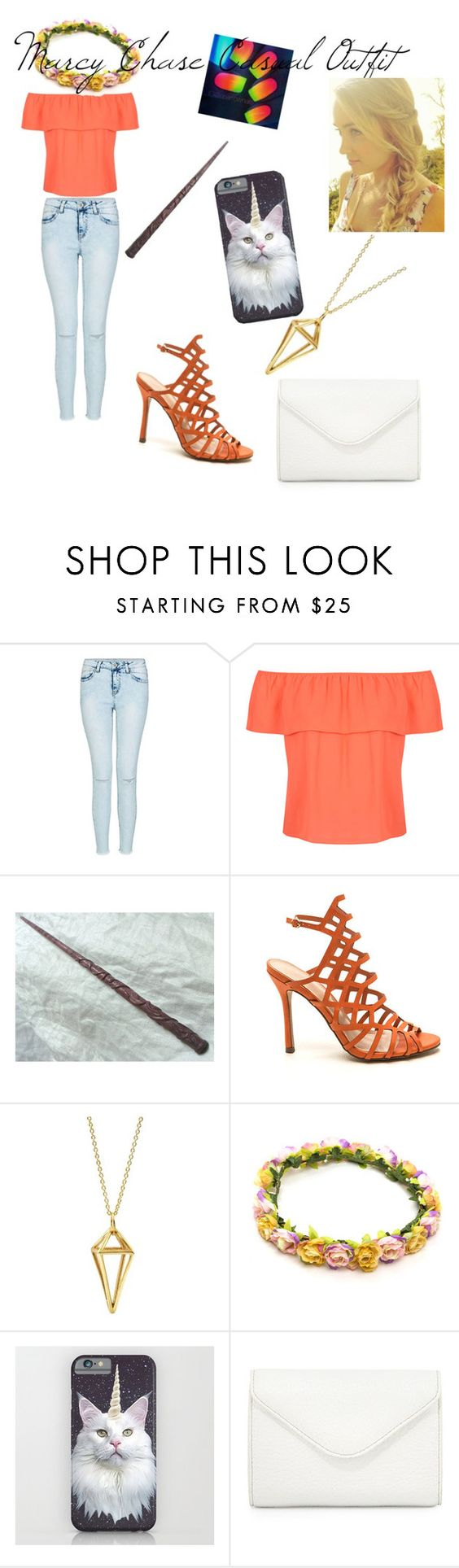 Marcy Chase Casual Outfit by coconutmoon ❤ liked on Polyvore featuring Miss Selfridge,