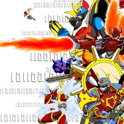 ... Omnimon, imperialdramon fighter mode, gallantmon crimson mode