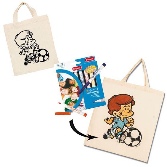 Maak een voetbaltas met dit knutselpakket van Suus kinderfeestjes