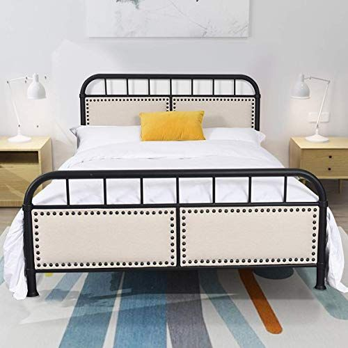 New Giantex Metal Bed Frame Full Size Bed Platform Comfortable