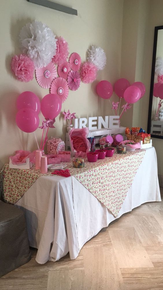 Pink Baby Shower Ideas Baby Shower Candy Bar Candy Birthday