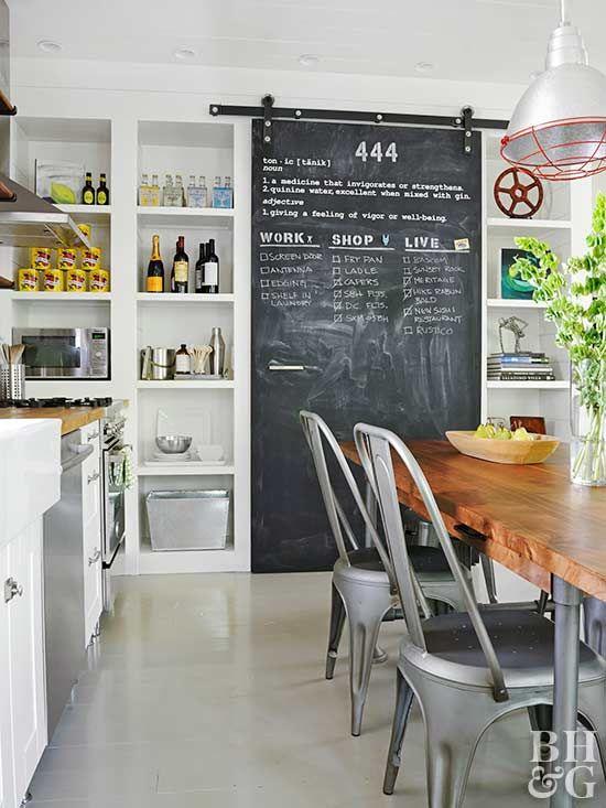 12 Ways To Warm Up Industrial Style Kitchen Chalkboard Kitchen