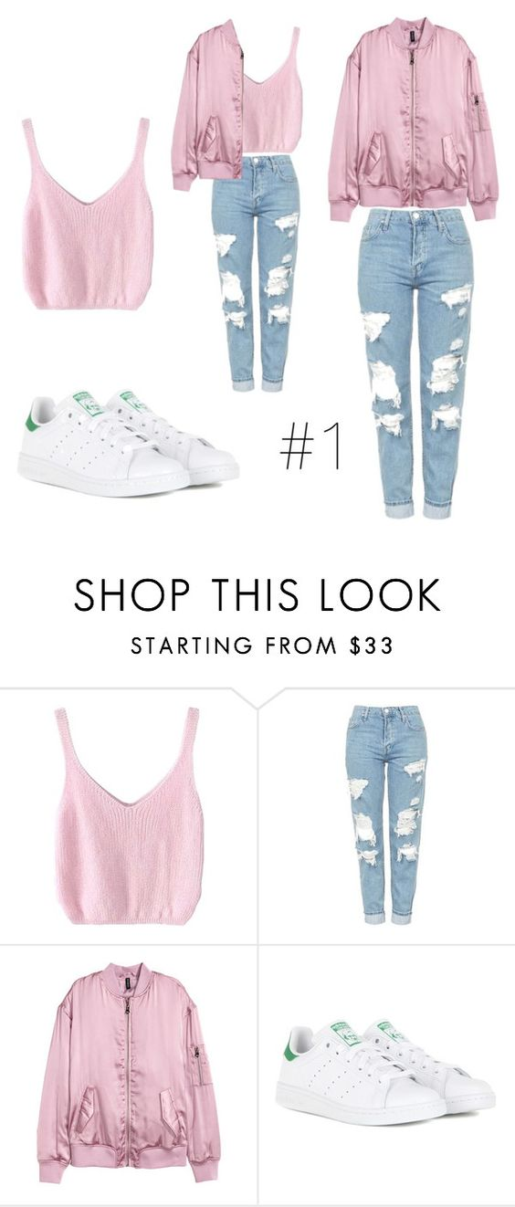 """""""Untitled #186"""" by mariafilomena471 ❤ liked on Polyvore featuring Topshop and adidas"""