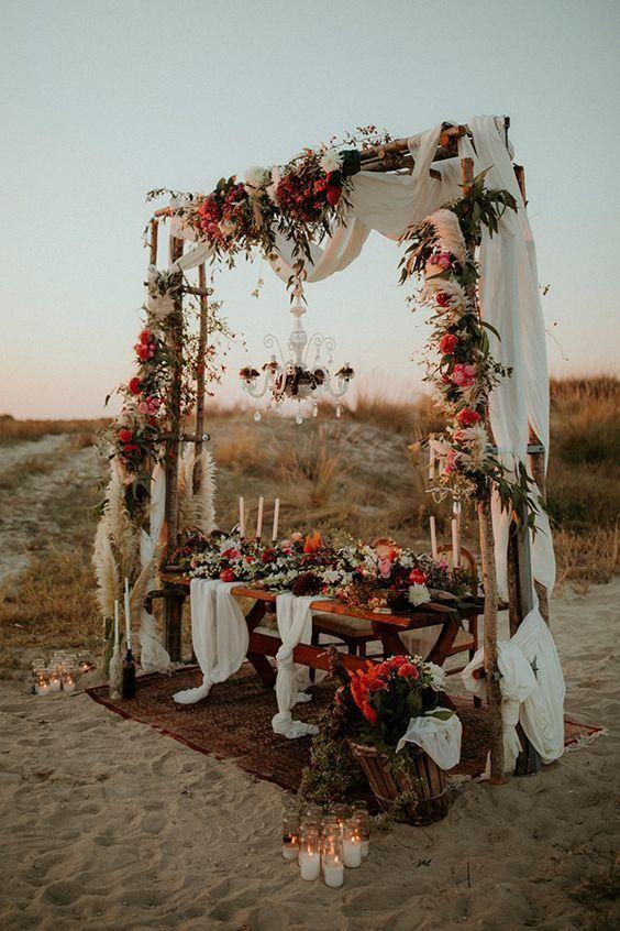 Wedding Theme Ideas And Wedding Decor Flower Ideas Wedding Themes Rustic Boho Wedding Arch Wedding Arch
