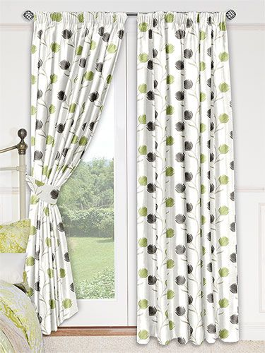 Green Curtains apple green curtains : Alya Apple Green Curtains from Curtains 2go | Projetos a ...