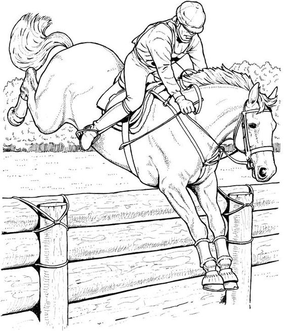 Realistic Horse Coloring Pages | Free Horse Coloring Pages: