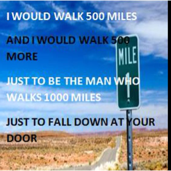 i would walk 500 the proclaimers bands and