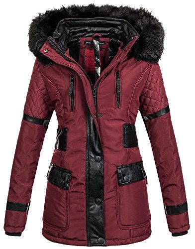 Geographical Norway Damen Winter Jacke gefüttert Parka Mantel warme Winterjacke