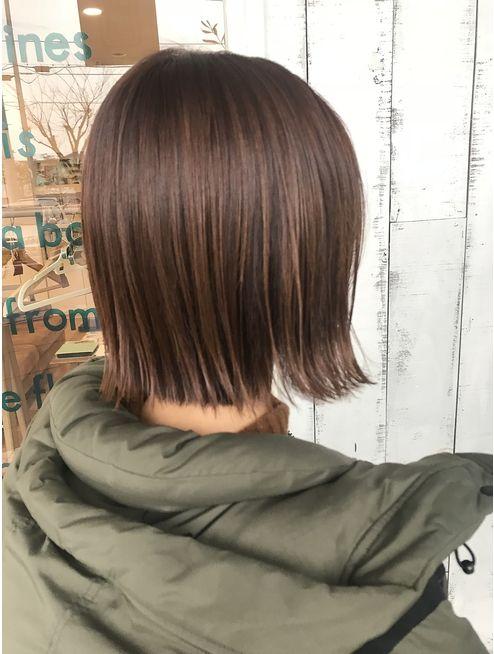 切りっぱなしボブ オレンジベージュカラー L027237966 ポルトブルー Porte Bleue のヘアカタログ ホットペッパービューティー 10代 ヘアスタイル ヘアスタイリング 前髪なし ボブ
