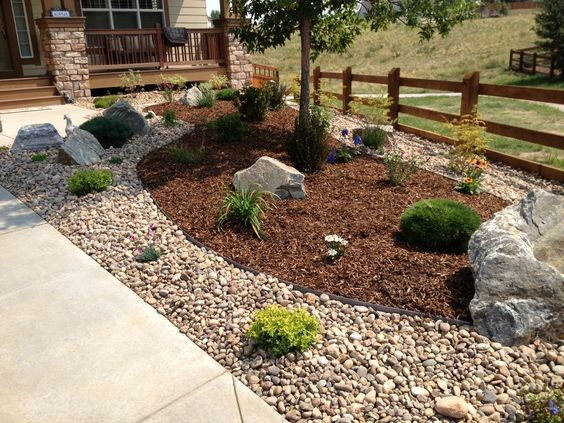 Halaman depan and google on pinterest for Xeriscaped backyard design
