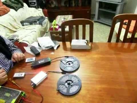 Comparación controladores RGB audio rítmico RF y IR
