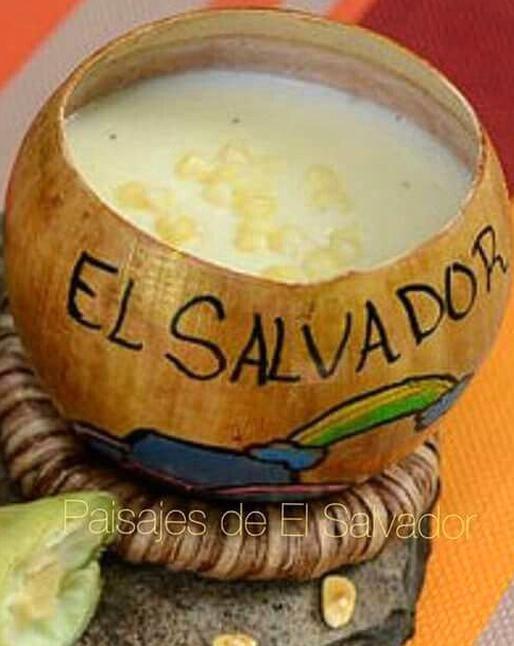 Atol De Elote Servido En Huacal De Morro Sb Mayan Food Salvador Food Salvadorian Food