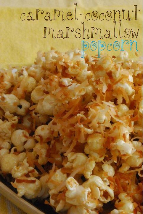 Caramel Coconut Marshmallow Popcorn @Hayley Parker (The Domestic Rebel)