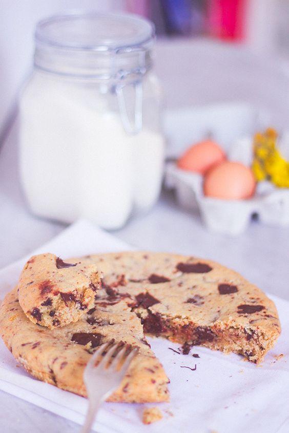 Recette cookie g ant extra moelleux coeur mi cuit aux - Recette cookies chocolat moelleux ...