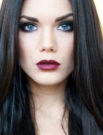 Black hair blue eyes - Linda Hallberg | Black hair + Blue ...