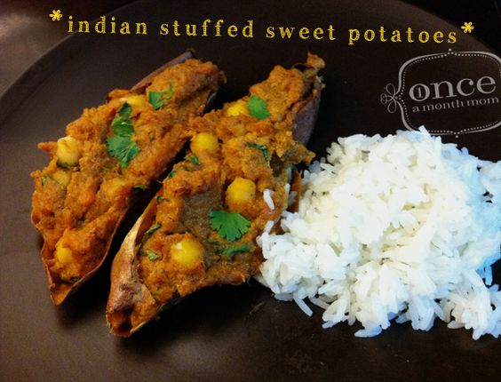 Stuffed sweet potatoes, Indian and Potatoes on Pinterest