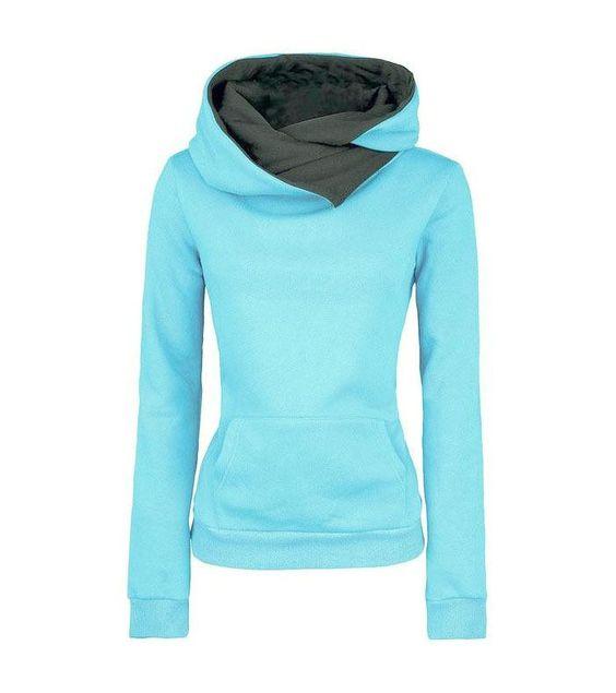Casual Solid Lapel Hooded New Sweatshirt  #looklovelust #sleek #skincare #model #igshop #models #chic #handbags #fashion #classy https://goo.gl/VlG6oG