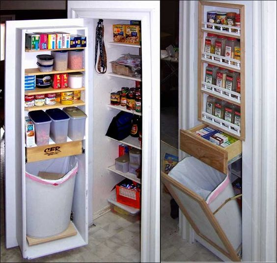 Pantry Door With Built In Shelves Drawer And Hidden Tilt