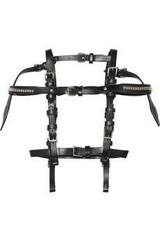 Leather harness by Alexander McQueen