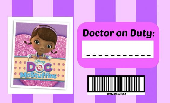 Gratifying image with free doc mcstuffins printable