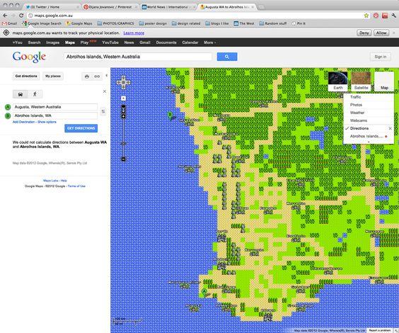 Check out Google Maps April fools joke... Quest mode!!! =D
