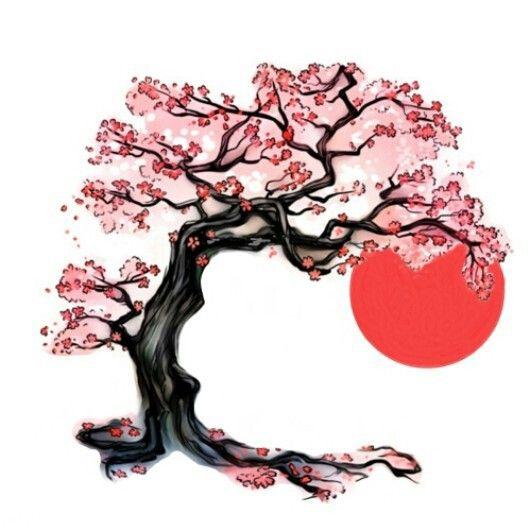 Cherry Blossom Tree Japanese Sun Photoshop Me Want Cherry Blossom Tree Tattoo Cherry Blossom Art Cherry Blossom Drawing