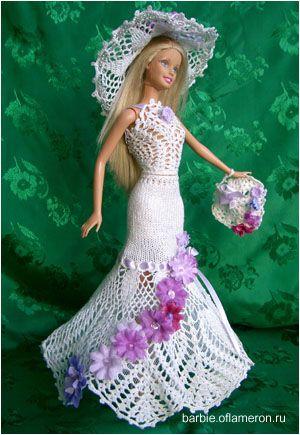 Барби. Вязание крючком. Куклы Барби. Схемы вязания и фото одежды ...