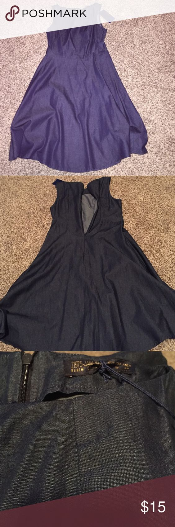 Zara Brand new ZARA blue jean dress. Zipper in the back! Dress up or dress it down Zara Dresses High Low